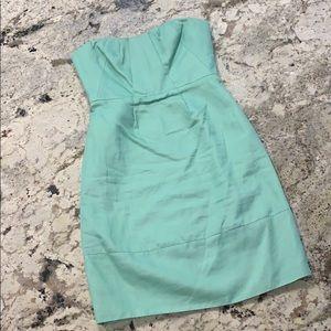 J.Crew linen green cocktail dress. Sz 2. Pockets!!